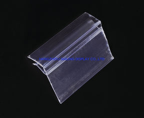 Trung Quốc Transparent Plastic Price Data Strip Label Holder for Shelves , Customized nhà máy sản xuất