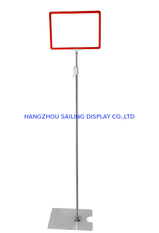 Custom Chrome-faced POS Sign Holder , POP Poster Display For Promotion Card nhà cung cấp