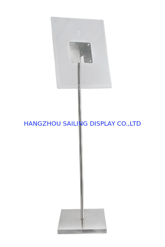 Floor Standing POS Poster Sign Holder , 1100 - 1600mm Floor Stand Display nhà cung cấp