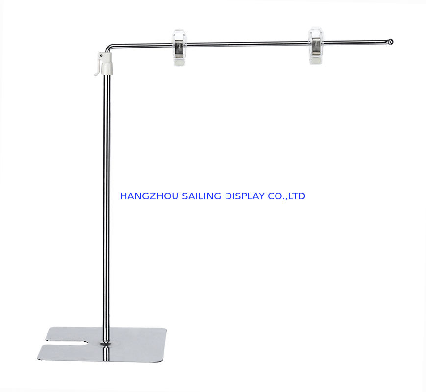 A3 , A4 POS Standing Retail Sign Holder Clip , 300-500mm Adjust Height nhà cung cấp