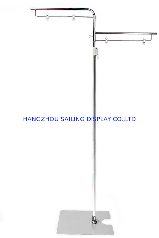 Retail Floor Poster Stands , Floor Standing Sign Holders 380mm Pole nhà cung cấp
