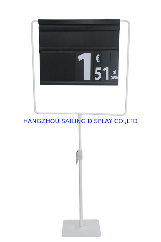 Metal Base Floor Poster Stands , Supermarket Floor Standing Picture Frame Holder nhà cung cấp