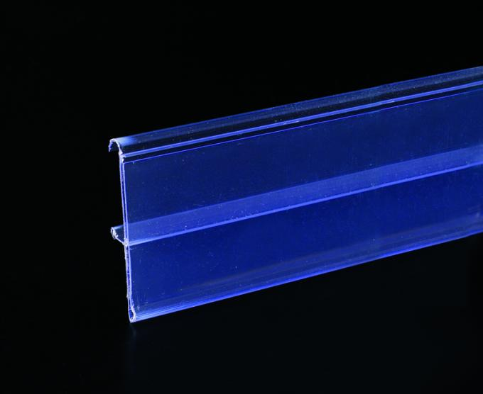 Non-toxic Aluminum Display Rail Colorful Plastic Data Strip for Shelf